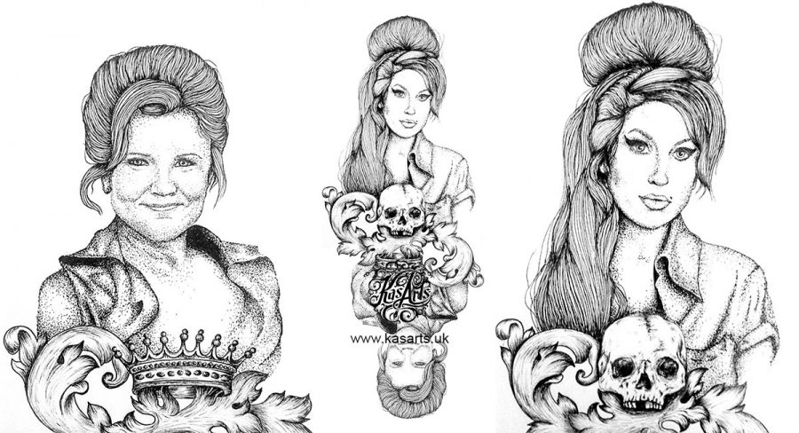 Amy&Imelda-ink-drawing-kasarts