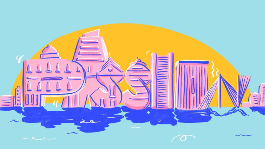 'Boston - 99 problems but passion ain't one' - Editorial Illustration