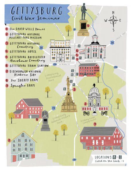 Gettysburg Seminar Map