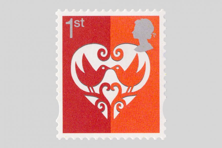 Heart stamp for Royal Mail