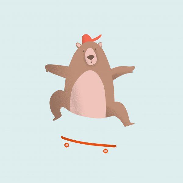 Kickflip Bear