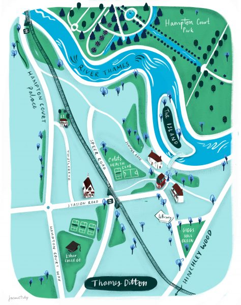 Thames Ditton illustrated map