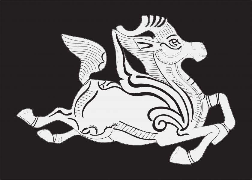 Deer chase - digital illustration