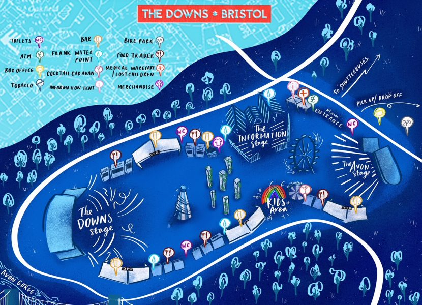 The Downs Festival Map