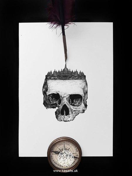 inktober-2018-skull-architecture-indonesia-kasarts