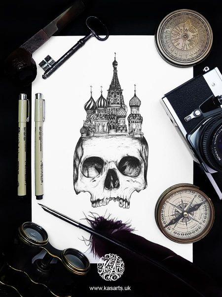 inktober-2018-skull-architecture-russiakasarts