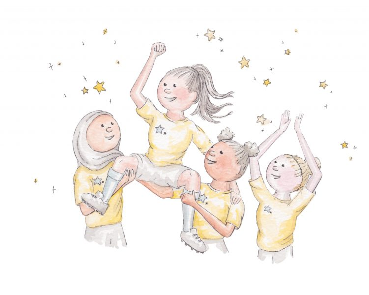 'We rise by lifting others' - An illustration from the book ' Reach for the Stars' Dear Girl'