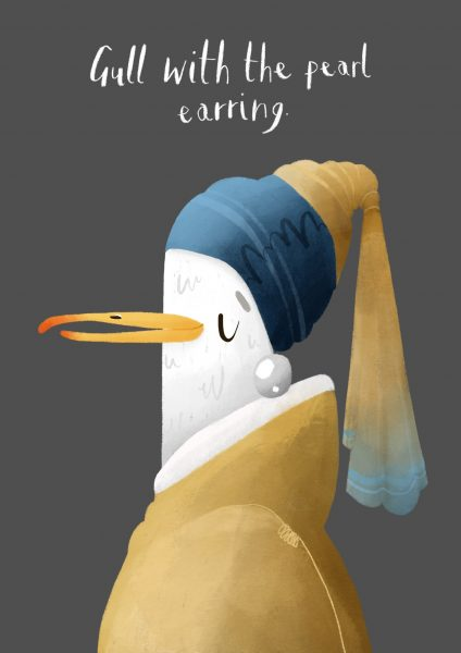 Gull with a Pearl Earring