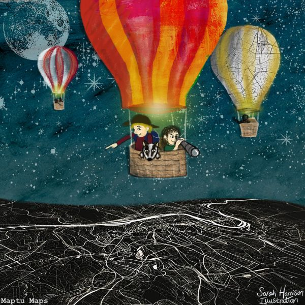 Hot Air Baloon Adventure (Maptu Maps Promo) - ©SarahHarrisonIllustration