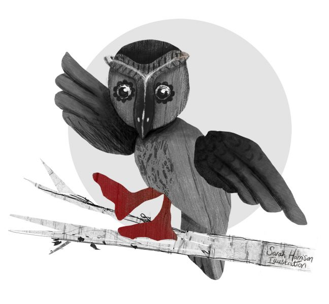 Rose's Owl - ©SarahHarrisonIllustration