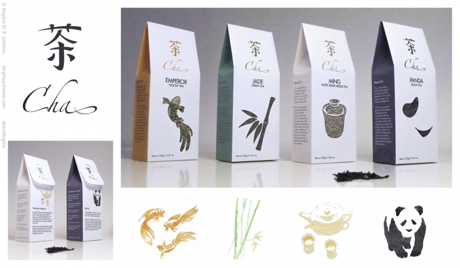 Cha tea - packaging design