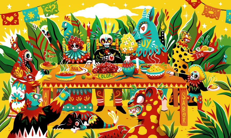 La Comida / Guzmán y Gómez Mural