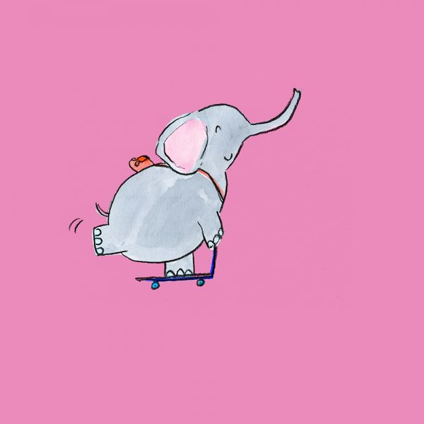 Scooting elephant
