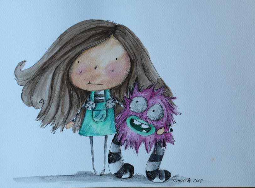 girl with monster