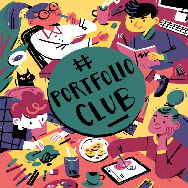 Portfolio Club Cover Illustration