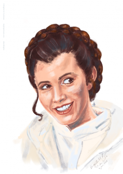 Princess Leia - Carrie Fisher, portrait