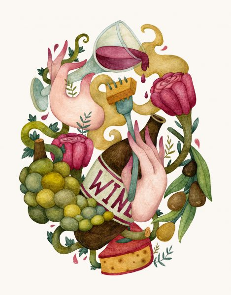 Wine - Food Illustration