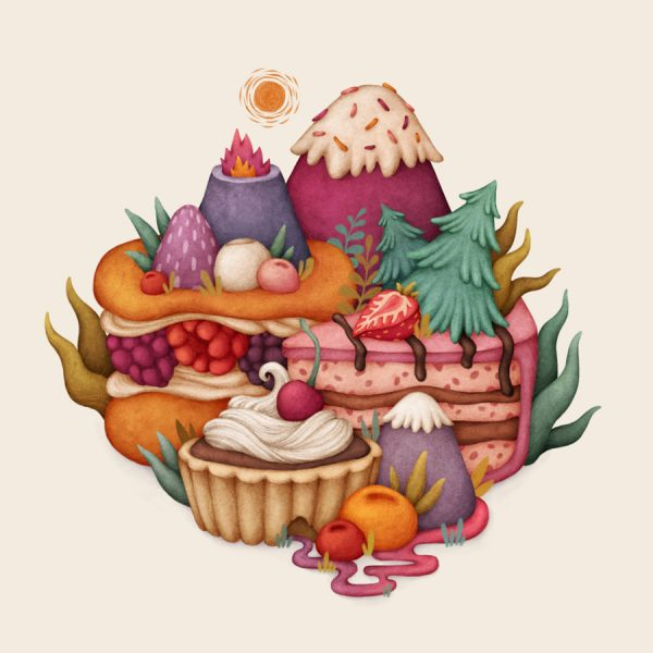 Sweet Hills, Food Illustration