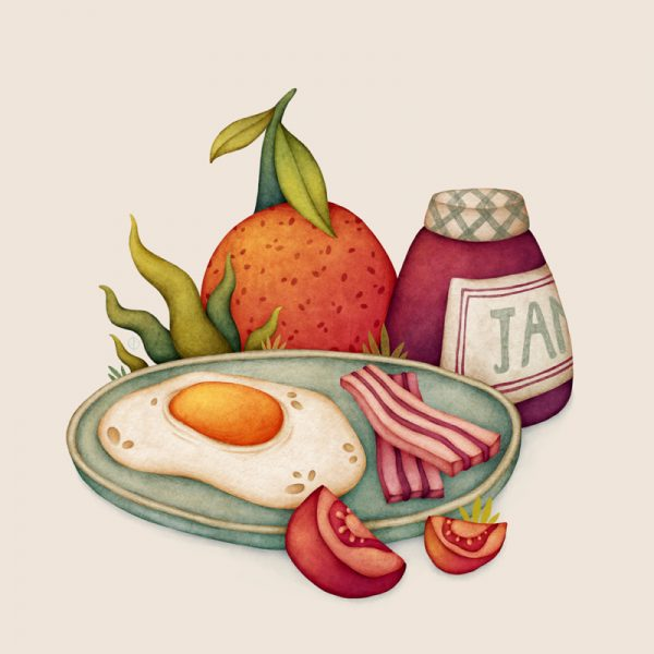 Breakfast Food Illustration