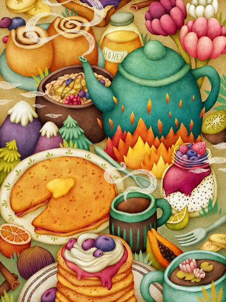 Tasty Land - Breakfast, Food Illustration