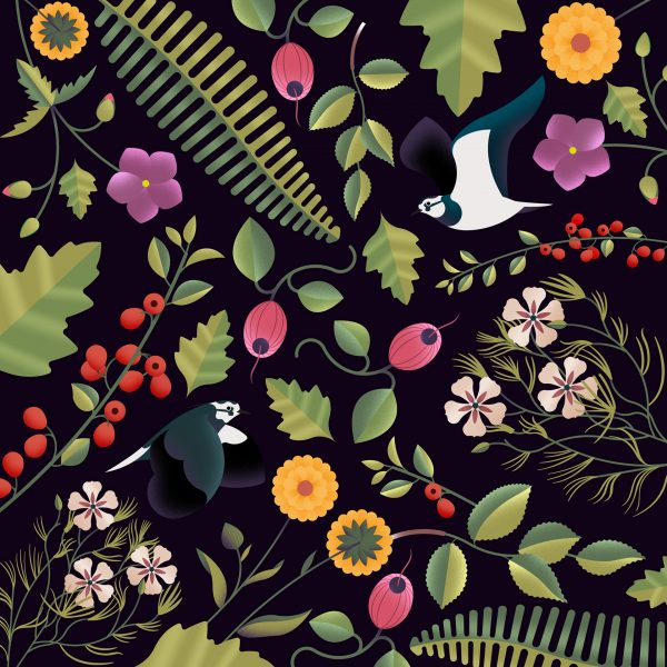 Birds and Fauna Pattern