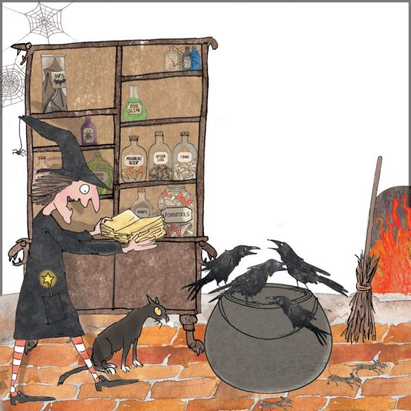 Witch with a cauldron