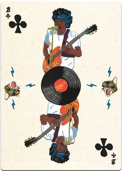 Musician. Poker Cards.