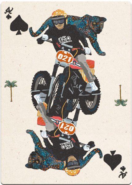 Moto Bike. Poker Cards.