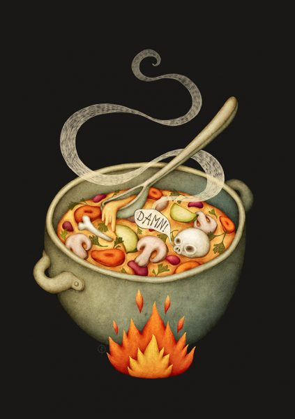 Damned Soup - Food Illustration