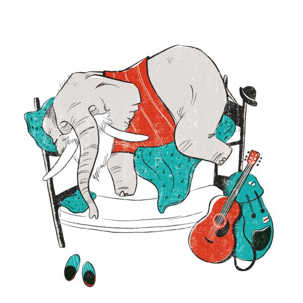 Elephant Illustration - Hostel-Anniversary