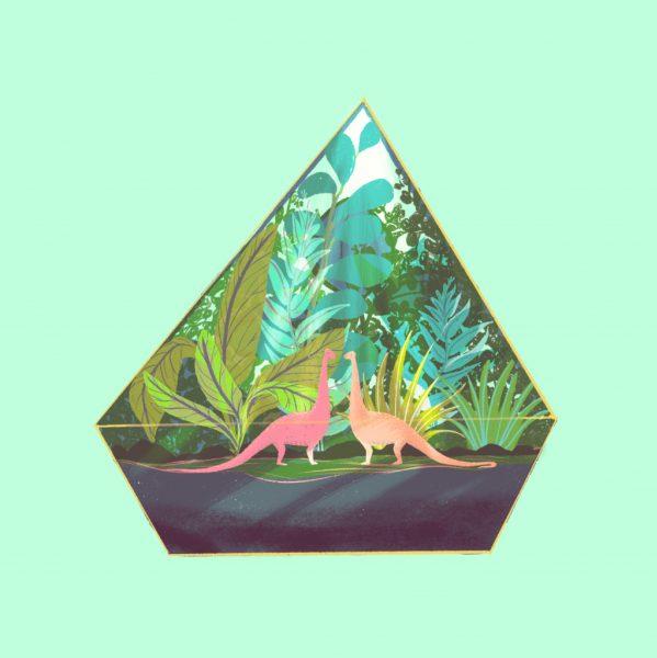 Diplodocus pair in a Terrarium