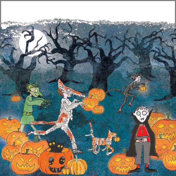 Halloween with jack-o-lanterns
