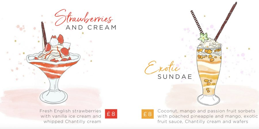 Landmark London Sundae Menu