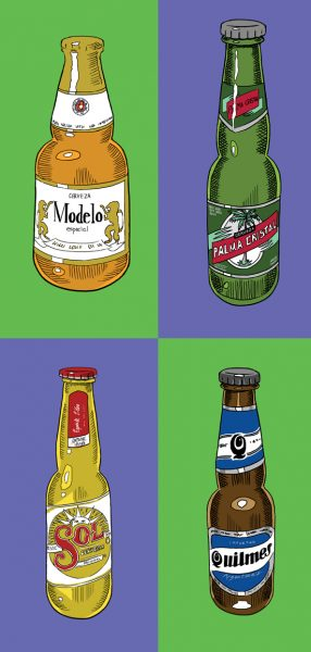 Beer menu illustrations