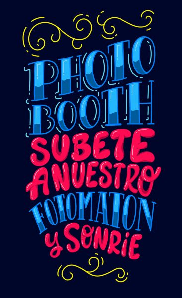PHOTOBOOTH LETTERING