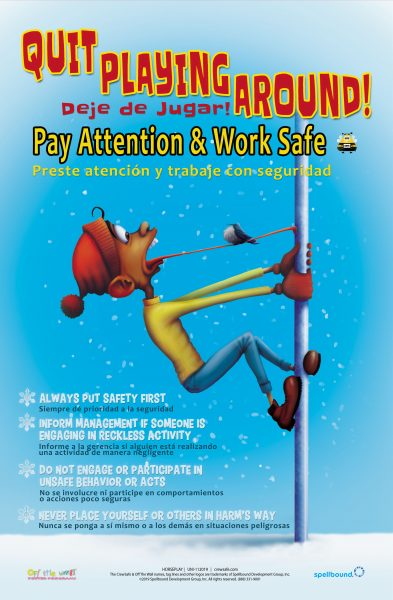 Horseplay safety poster