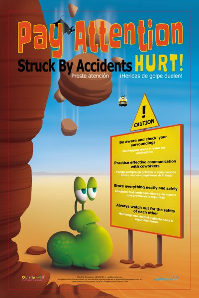 Struck by Accident Safety Poster
