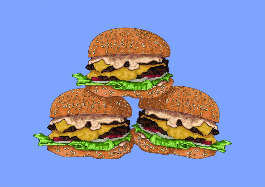 Burgers Food Illustration