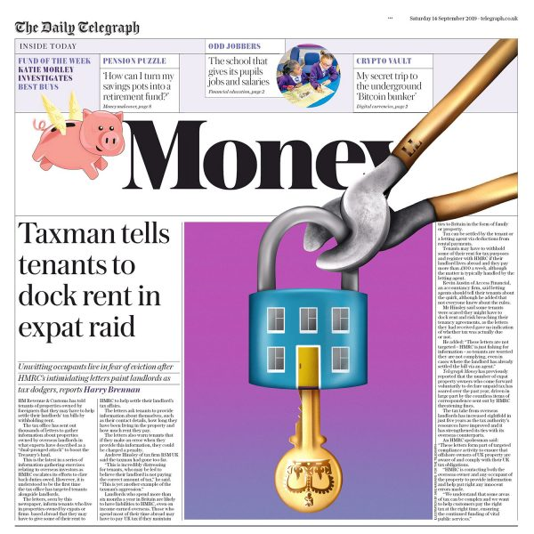 Taxman Tells Tenants to Dock Rent in Expat Rave
