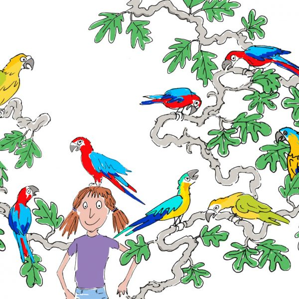 P is for parrots