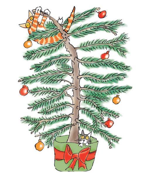 Christmas tree cat chaos