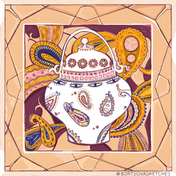 Paisley jigsaw puzzle design