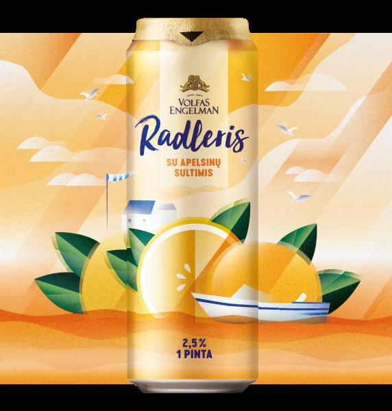 Orange Radler Drink Can