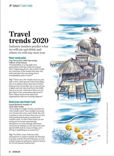 Editorial illustration for Ink Global - Silkwinds Magazine