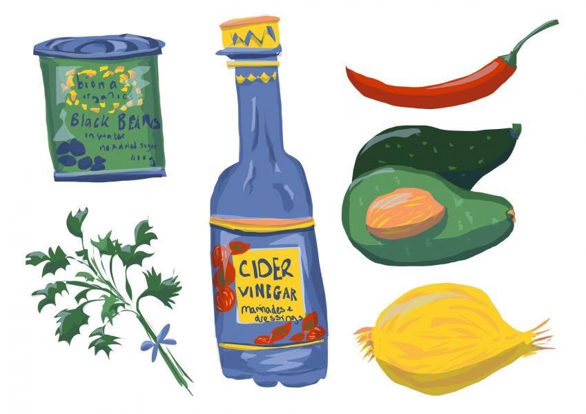 Food tacos Spot Illustrations