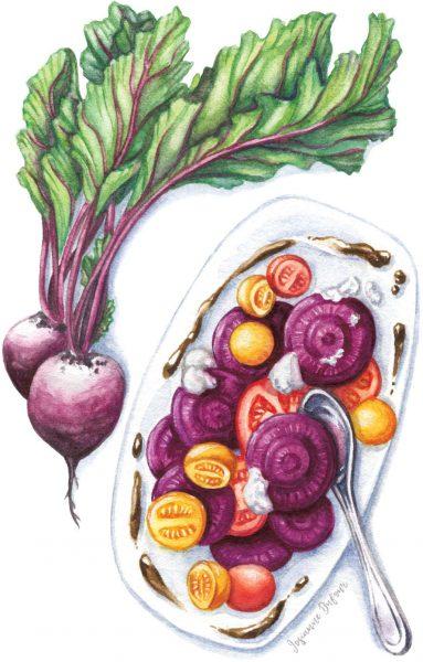 Beetroot dish (Editorial illustration)