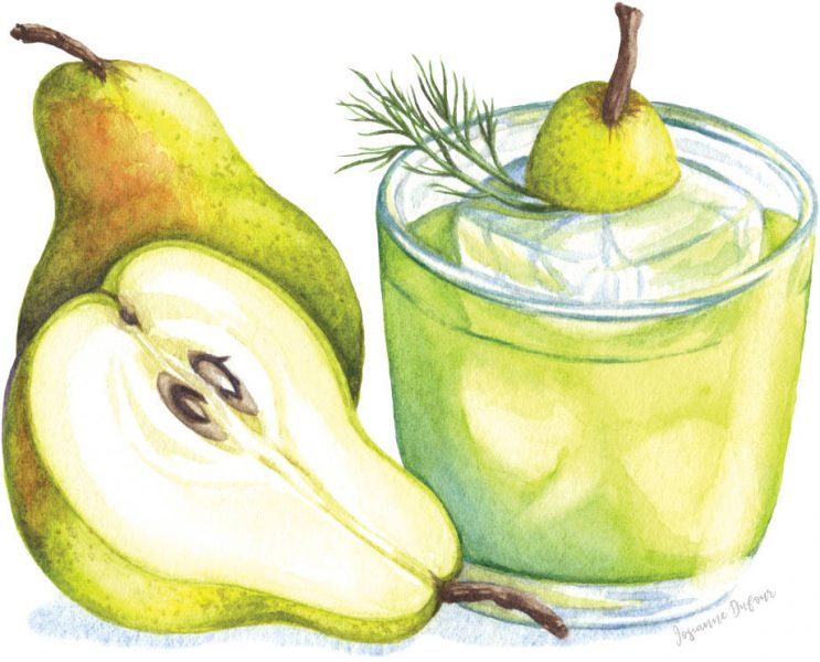 Pear Cocktail (editorial)