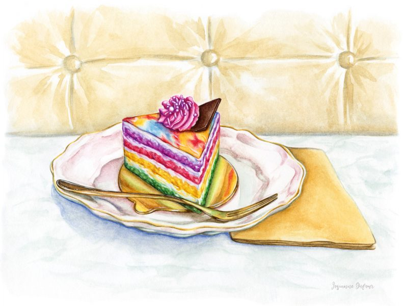 A Piece of Rainbow Cake