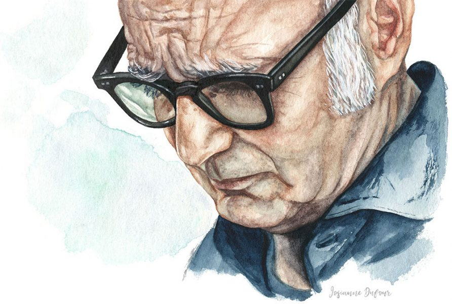 Portrait of Italian pianist Ludovico Einaudi