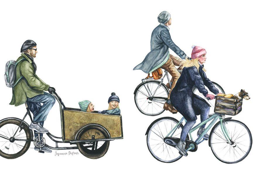 Bike commuting in Copenahgen